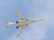 Flygplanet Tu-160 Royaltyfri Bild