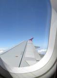 flygplanfönster arkivbilder