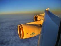 Flygplanfönster för flyg- sikt Royaltyfria Bilder