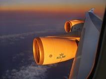 Flygplanfönstersikt Arkivfoton