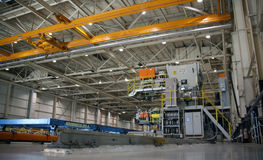 flygplanfabriksproduktion Royaltyfri Fotografi