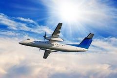 Flygplanflyg Fotografering för Bildbyråer
