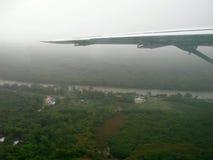 flygplanflygvinge Royaltyfri Foto
