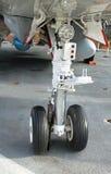flygplanhjul Arkivbild