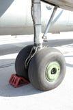 Flygplanhjul Royaltyfri Foto