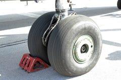Flygplanhjul Arkivfoto