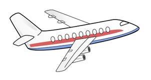Flygplanillustration Arkivfoton