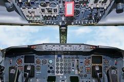 Flygplaninstrumentbräda Arkivfoton