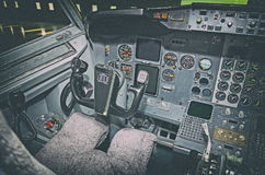 Flygplaninstrumentbräda Arkivfoto