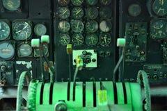 Flygplaninstrumentpanel Arkivfoto