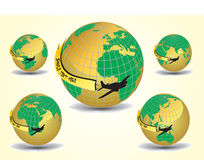 flygplanjordjordklot vektor illustrationer