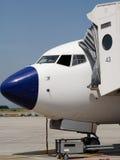 flygplanjordning Royaltyfri Fotografi