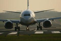 flygplanjordning Royaltyfria Foton