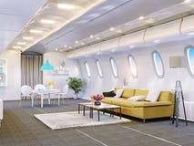 Flygplankabin Fotografering för Bildbyråer