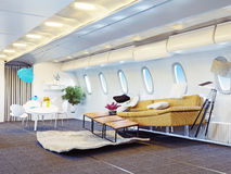 Flygplankabin Arkivbild