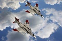 flygplankämpefantom Arkivfoton