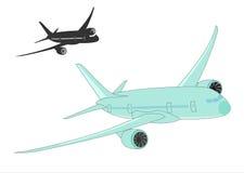 Flygplankonturer på en vit bakgrund. vektor illustrationer