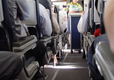 flygplankorridor royaltyfria foton