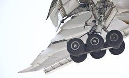flygplankugghjullandning Royaltyfri Foto