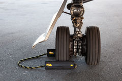 flygplankugghjullandning Arkivfoto