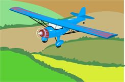 flygplanlampa stock illustrationer