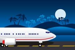flygplanlandning royaltyfri illustrationer