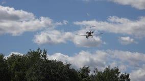 Flygplanlandning, nivåer stock video