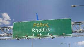 Flygplanlandning Rhodes arkivfilmer