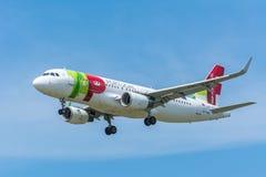 FlygplanluftLuxor CS-TMW flygbuss A320-200 arkivfoton