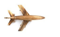 Flygplanmodell på vit Arkivbilder