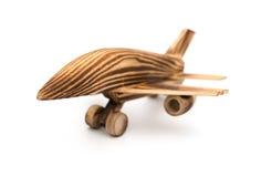 Flygplanmodell på vit Arkivfoto