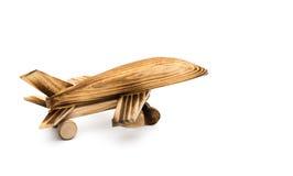 Flygplanmodell på vit Arkivfoton