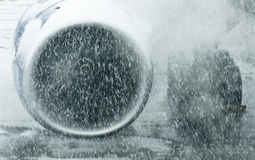 Flygplanmotor Arkivbild