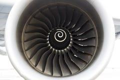 Flygplanmotor för flygbuss A380 Arkivbild