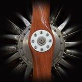 Flygplanmotor och propeller Arkivbilder