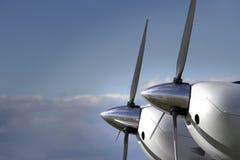 Flygplanmotor och propeller Arkivfoto