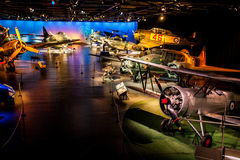 Flygplanmuseum Arkivbild