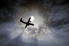 Flygplannattflyg Royaltyfri Fotografi