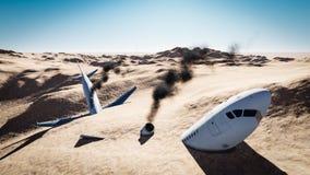 Flygplannedgång Arkivbild