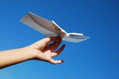 flygplanpapper Royaltyfri Bild