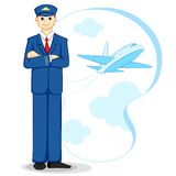 flygplanpilot royaltyfri illustrationer