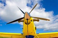 Flygplanpropellrar, motor med propellerblad royaltyfri bild
