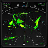 Flygplanradar vektor illustrationer