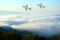 Flygplanshow Arkivbild
