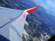 Flygplansikt från fönster royaltyfri bild