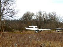 Flygplanskrasch Arkivbild