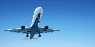 Flygplanslandning Arkivbilder
