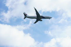 Flygplanslandning Royaltyfri Fotografi