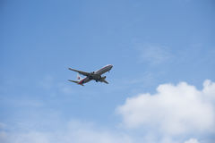Flygplanslandning Royaltyfria Foton
