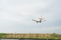 Flygplanslandning Royaltyfria Bilder